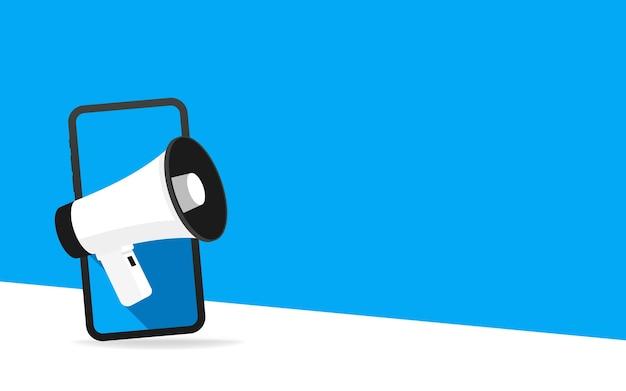 Pubblicità digitale, dispositivo mobile isometrico