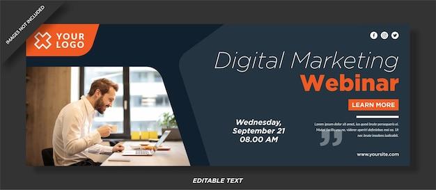 Modello di copertina facebook per agenzia digitale