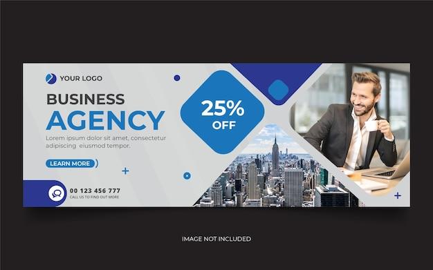 Modello di banner di copertina dei social media dell'agenzia digitale