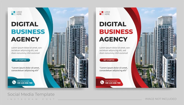 Modello di post sui social media dell'agenzia di business digitale