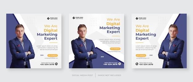Modello di post instagram di agenzia di marketing aziendale digitale