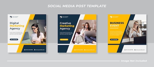 Modello di post instagram agenzia di marketing aziendale digitale