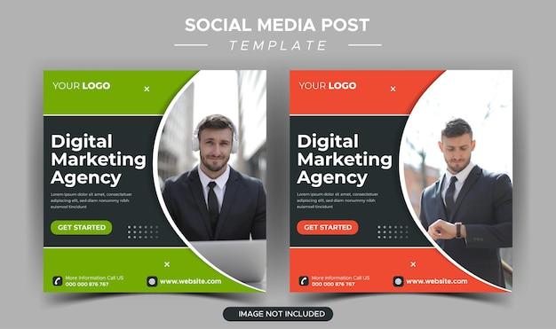 Modello di post instagram dell'agenzia di marketing aziendale digitale
