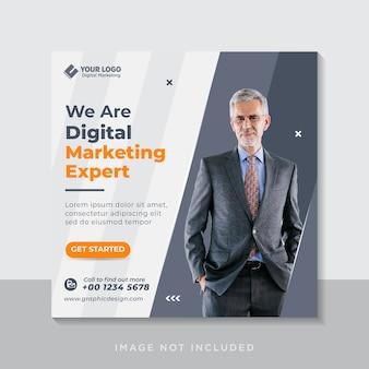 Banner web post sui social media dell'agenzia di marketing aziendale digitale