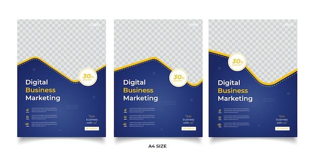 Banner di marketing aziendale digitale