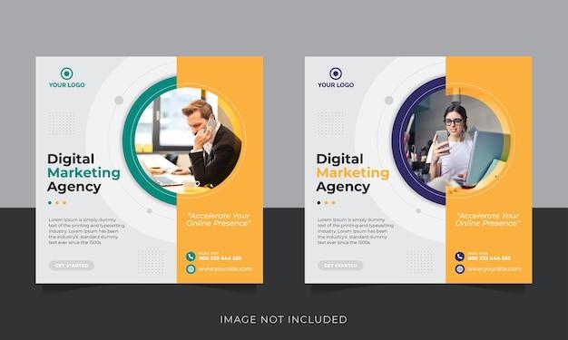 Modello di post sui social media per la promozione del marketing aziendale digitale