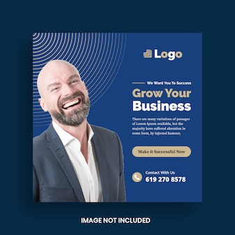 Modello di banner di social media marketing aziendale digitale