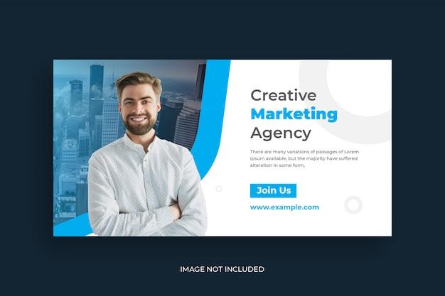 Post di social media marketing digitale e modello di banner