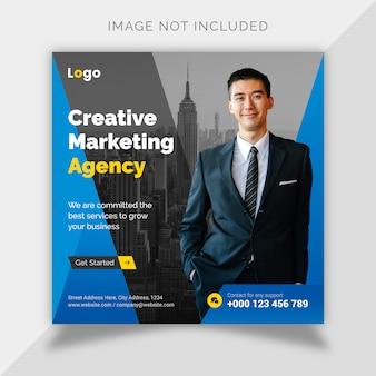 Business digitale marketing social media post e modello di volantino quadrato