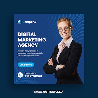 Modello di post di social media marketing business digitale