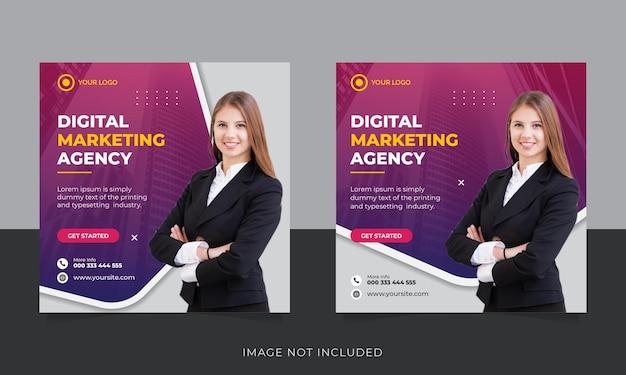 Post instagram quadrato di marketing aziendale digitale