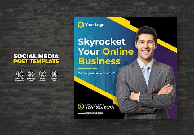 Esperto di agenzia di marketing e promozione digitale aziendale social media aziendale banner modello gratuito