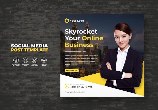 Esperto di agenzia di marketing e promozione digitale aziendale per i social media aziendali banner post modello