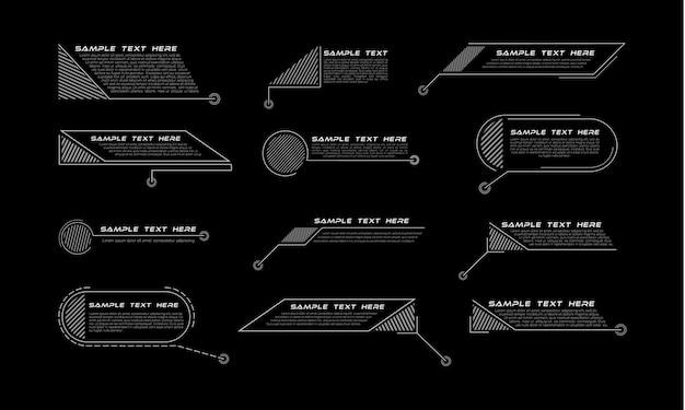 Titoli di callout digitali. set di modello di banner tecnologia hud.