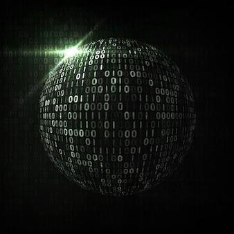 Sfondo di codice digitale, illustrazione astratta. il concetto di globalizzazione