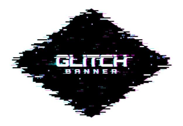 Schermo glitch di distorsione del colore digitale, linee e rumore di fondo dei pixel