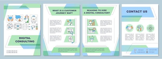 Modello di brochure per consulenza digitale.