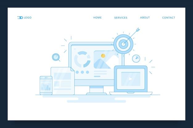 Banner di marketing di contenuti digitali