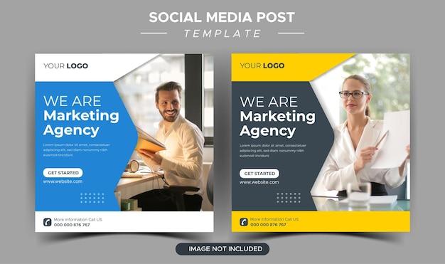 Modello di post instagram per agenzia di marketing aziendale creativo digitale