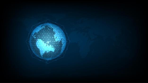 Mappamondo dati digitale - comunicazione hi-tech