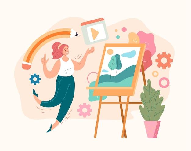 Concetto di sviluppo del progetto artistico di design digitale