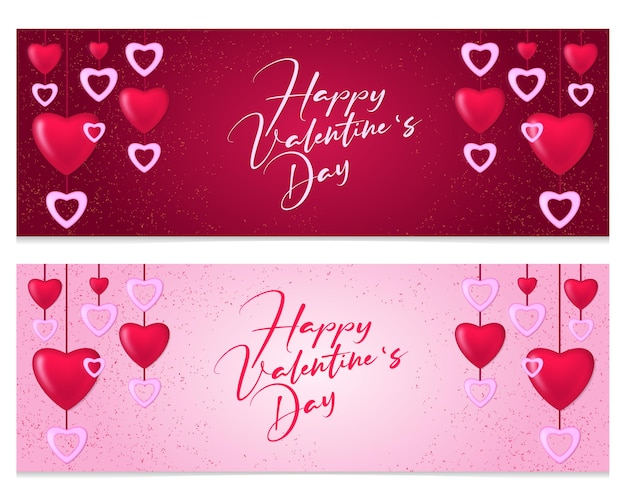 Banner di san valentino disegno digitale