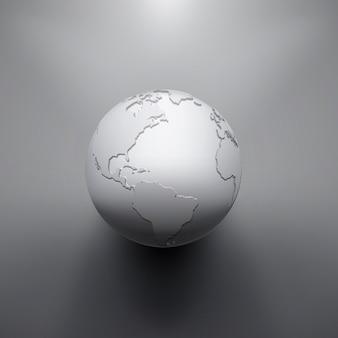 Immagine digitale della terra del globo. l'illustrazione del concetto