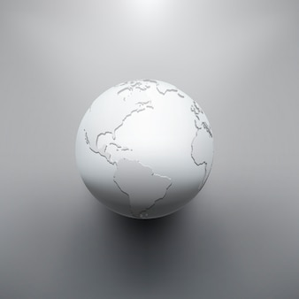 Immagine di terra digitale del globo