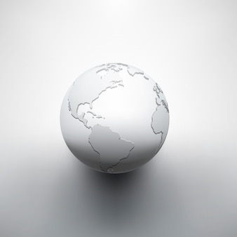 Immagine digitale della terra del globo
