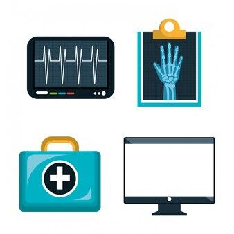 Le icone digitali di sanità hanno isolato la progettazione isolata