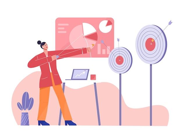 Obiettivo di successo del marketing digitale