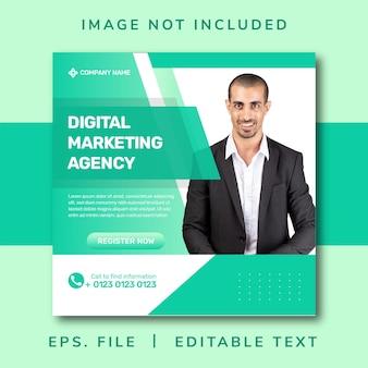 Banner dell'agenzia di marketing digitale per post sui social media