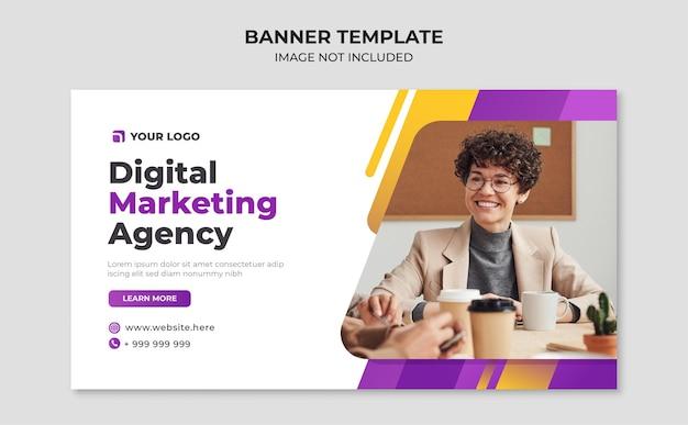Modello di banner di agenzia di marketing digitale