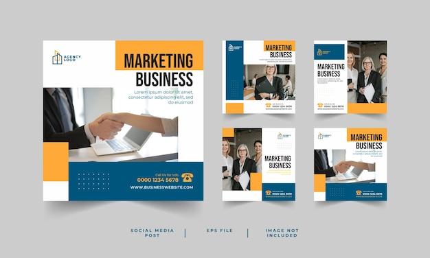 Raccolta di post sui social media aziendali dell'agenzia di marketing digitale