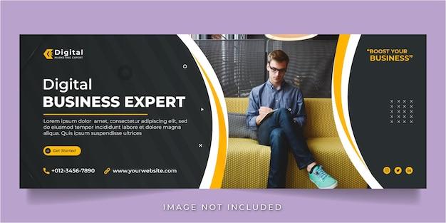 Volantino per agenzia di marketing digitale e business aziendale post instagram per social media o modello di banner web quadrato