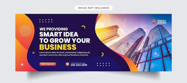 Agenzia di marketing digitale e modello di copertina e banner aziendale per facebook