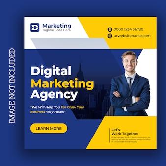 Modello di post sui social media aziendali dell'agenzia di marketing digitale