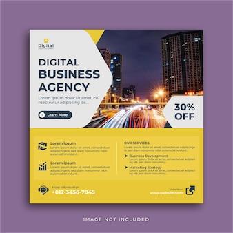 Agenzia di marketing digitale ed elegante volantino aziendale, post instagram social media o modello di banner web