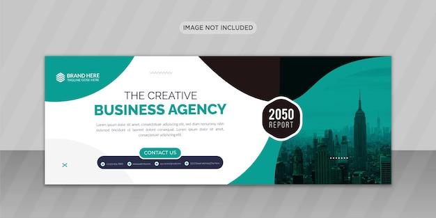 Agenzia di marketing digitale progettazione di foto di copertina di facebook o design di banner web