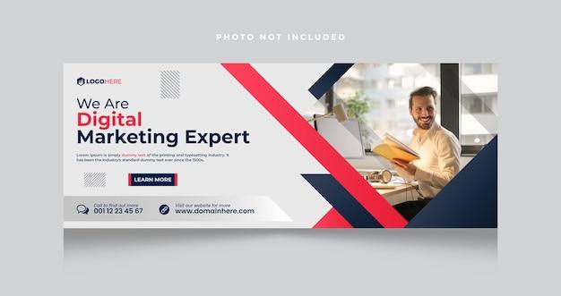 Copertina facebook e banner web dell'agenzia di marketing digitale