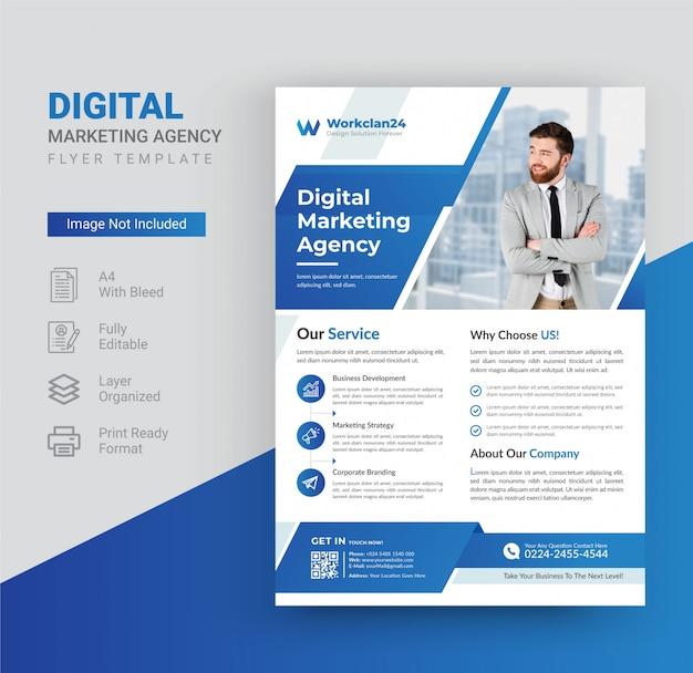 Modello di volantino agenzia di marketing digitale.