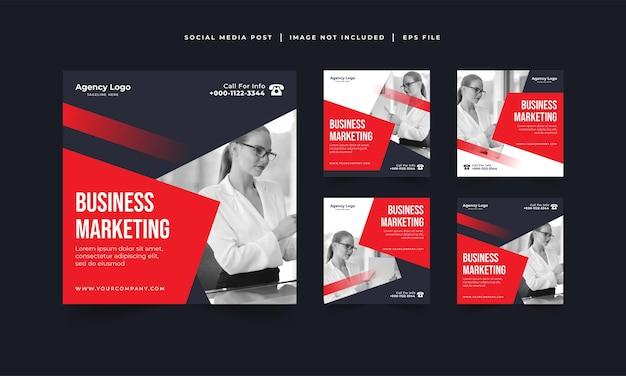 Modello di post instagram dell'agenzia di marketing digitale