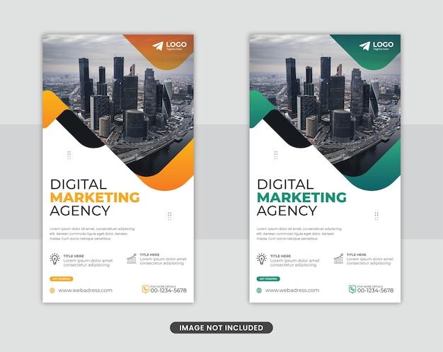 Agenzia di marketing digitale instagram storie social media post modello banner design