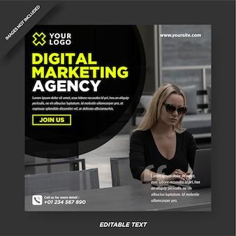 Modello instagram dell'agenzia di marketing digitale