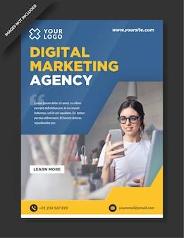 Design del poster dell'agenzia di marketing digitale