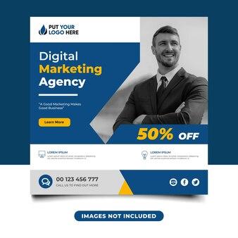Banner sui social media dell'agenzia di marketing digitale