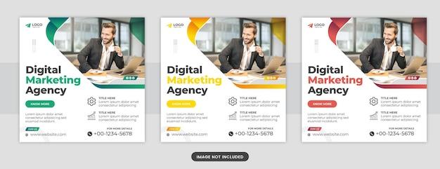 Modello di progettazione di post di facebook per social media dell'agenzia di marketing digitale