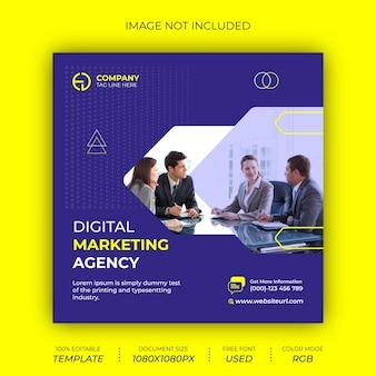 Agenzia di marketing digitale progettazione di banner per post sui social media