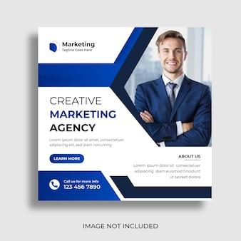 Progettazione di banner per post sui social media di marketing e agenzia digitale