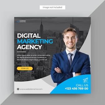 Agenzia di marketing digitale post sui social media, modello di post di instagram